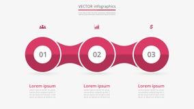 Steg-för-steg infographic royaltyfri illustrationer