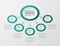 Steg-för-steg infographic Royaltyfria Bilder
