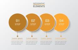Steg-för-steg infographic Arkivfoton