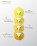 Steg-för-steg infographic Arkivfoto