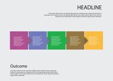 Steg-för-steg vektordesign Arkivbild