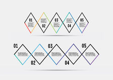 Steg-för-steg vektordesign Royaltyfri Bild