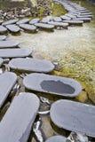 Steg-för-steg stenväg Arkivfoto