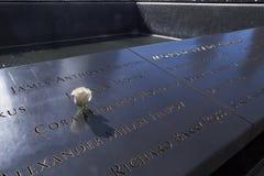 Steg i minne av September 11 offer Arkivfoton