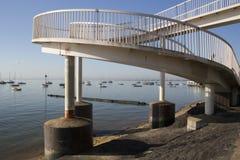 Steg in Leigh-auf-Meer, Essex, England Stockfotografie
