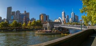 Steg Melbournes Southbank Lizenzfreies Stockbild