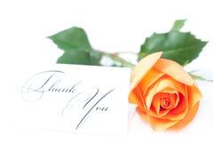 Steg, och ett kort med orden tackar dig Royaltyfri Foto