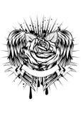 Steg och vingar royaltyfri illustrationer