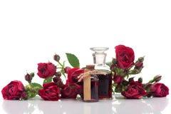 Steg steg olja och blommor Royaltyfri Fotografi