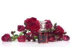 Steg steg olja och blommor Royaltyfria Bilder
