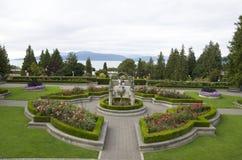 Steg trädgården arkivfoto