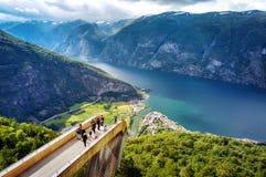 Stegastein Noruega fotos de stock