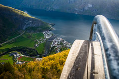 Stegasteinvooruitzicht in Noorwegen stock afbeelding