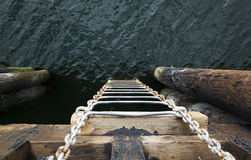 Stege in i havet royaltyfri foto