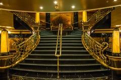 Stege inre av kryssningeyeliner Splendida, MSC Royaltyfri Foto