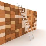 Stege och vägg Vektor Illustrationer