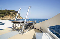 Stege på fartygdäcket Fotografering för Bildbyråer