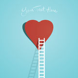 Stege till din hjärta Arkivbild