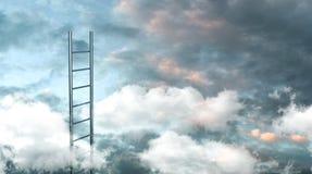 Stege till molnbegreppsbilden illustration 3d royaltyfria bilder