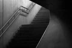 Stege trappa upp, geometri Arkivbild
