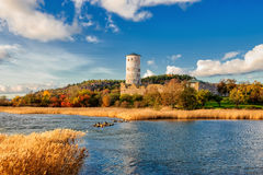 Stegeborg castle during autumn Stock Photo