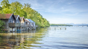 Stegen at Ammersee Royalty Free Stock Photos