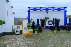 Stegen in de oude stad, in Obidos stock afbeeldingen