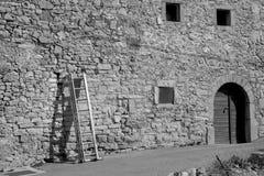 stegen för illustrationen 3d framförde väggen Arkivfoto