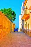 Stegen op het overzees bij donnalucata Ragusa stock foto