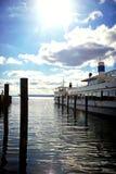 Stegen sur le lac Ammersee, bateaux touristiques Images libres de droits