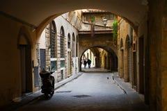 In stegen van de oude stad Florence, Italië stock foto