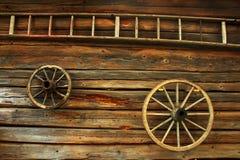 stegen wheels trä Fotografering för Bildbyråer