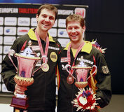 Steger Bastian and Timo Boll (GER) Royalty Free Stock Photography