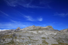 Steghorn mountain and alpine hut Stock Photography