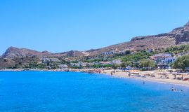 Stegna beach resort. Rhodes Island. Greece Stock Photo
