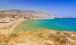 Stegna beach on Rhodes Royalty Free Stock Photo