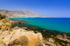 Stegna sea bay on Rhodes Royalty Free Stock Photos