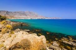 Stegna sea bay on Rhodes Royalty Free Stock Photos