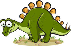 Stegosauro isolato su bianco Immagine Stock Libera da Diritti