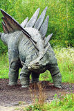 Stegosaurus. Dinosaurus.Sculpture in live size Stock Images