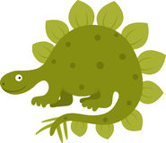 Stegosaurus. Vector illustration of funny stegosaurus Stock Photo