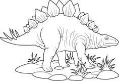 stegosaurus Arkivfoto