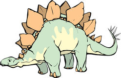 Stegosaurus. With a pleasant expression and yellow patterning Royalty Free Stock Photography