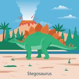 stegosaurus Animale preistorico illustrazione di stock