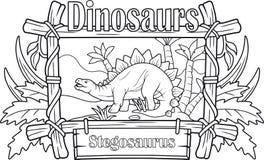 Stegosaurus antique, livre de coloriage Images libres de droits