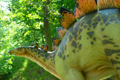 Stegosaurus armatus. Stegosaur in the jurassic park Stock Images