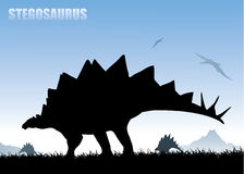 Stegosaurus background Stock Photos