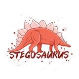 Stegosaurus. Big red dinosaur Royalty Free Stock Images