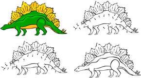 Stegosaurus del fumetto Illustrazione di vettore illustrazione di stock