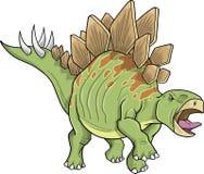 Stegosaurus Dinosaur. Big Stegosaurus Dinosaur Vector Illustration Royalty Free Stock Photo